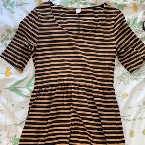 Old navy striped dress fit & flare